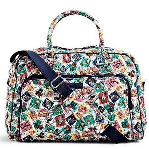 RETIRED Vera Bradley Cuban Stamps Weekender Bag
